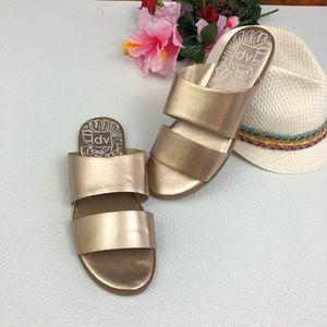 DV slip on rose gold copper Slide Sandal